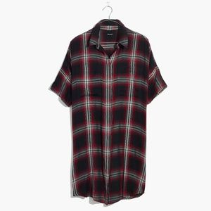 Madewell Courier Shirtdress in Rollins Plaid
